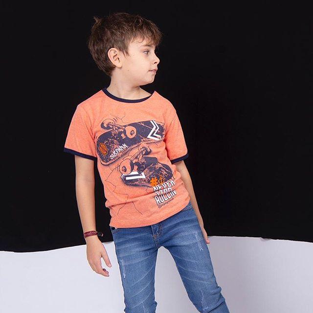 jeans y remera mangas cortas niño popeye kids verano 2021