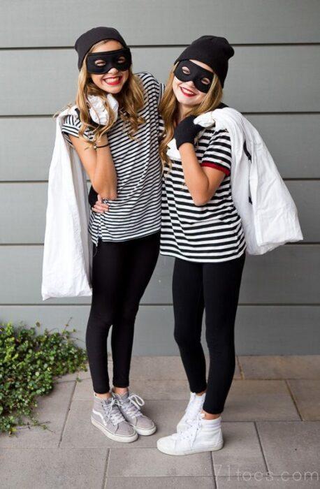 niñas ladronas disfraz