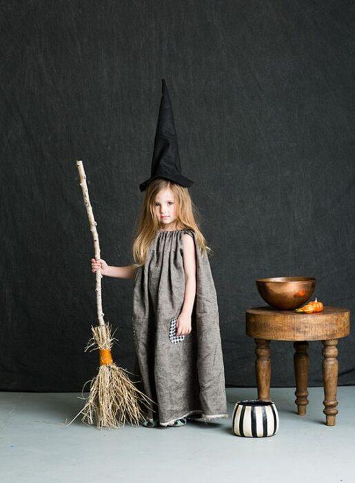 tunica paa bruja facil para niña