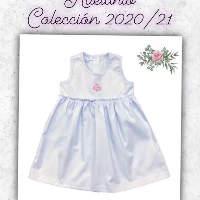 vestido blanco beba Picolo baby verano 2021
