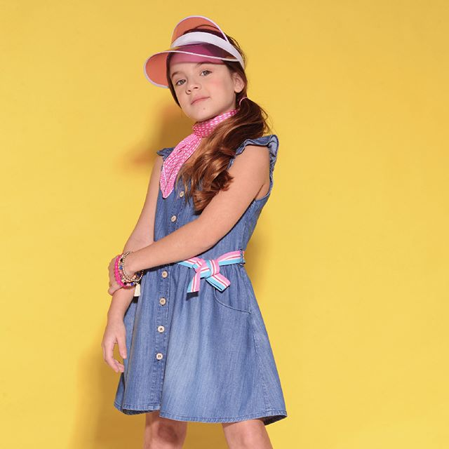vesido camisero nina de jeans advanced verano 2021