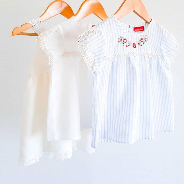 blusa blanca nina con bordado Acquachiare verano 2021 2