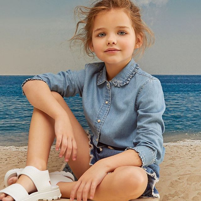 camisa denim nina Paula Cahen D Anvers Ninos verano 2021