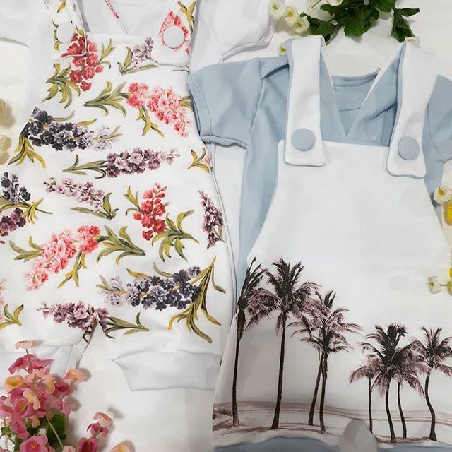 jardineros de algodon estampado bebes dicen mis suenos verano 2021