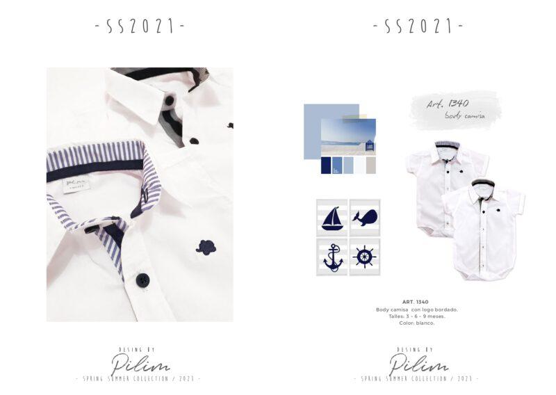 pilim verano 2021 camisa body bebe