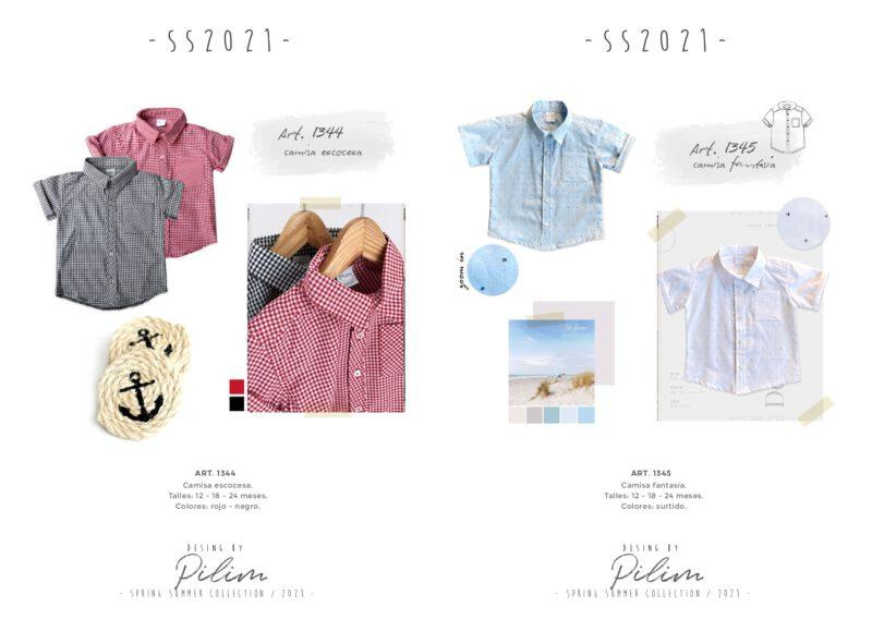 pilim verano 2021 camisas para bebes