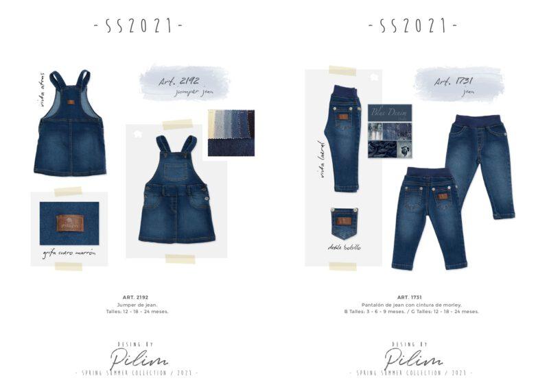 pilim verano 2021 jeans para bebes