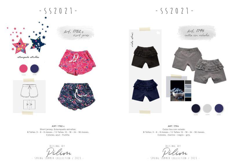 pilim verano 2021 short para bebes