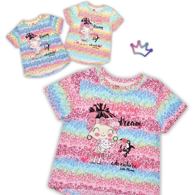remeras arcoiris bebes little Manny verano 2021