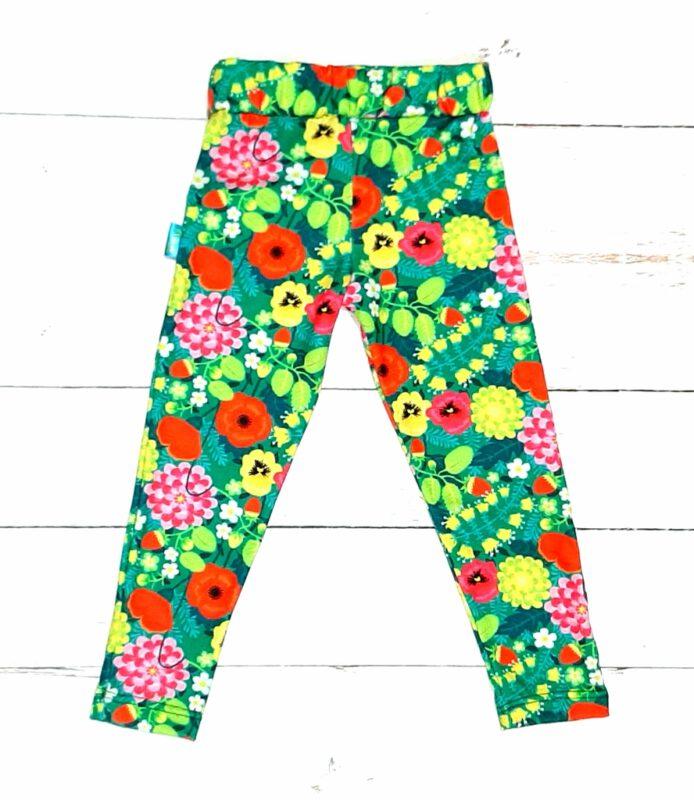 calzas floreadas nenas flow kids verano 2021