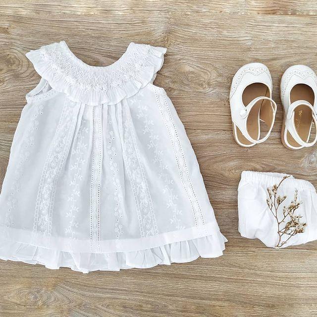 vestido blanco beba punto smock te como a besos navidad ano nuevo 2020