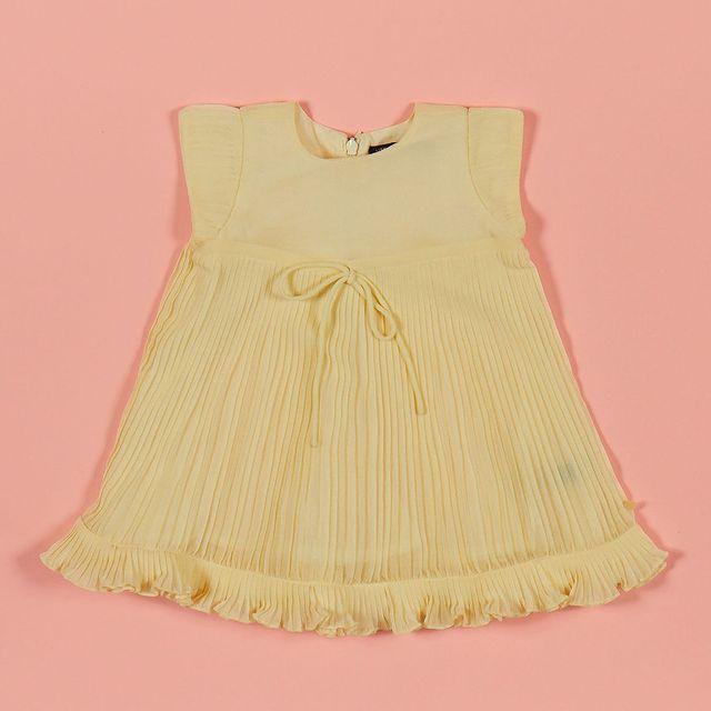 vestido plisado nina ano nuevo little akiabara