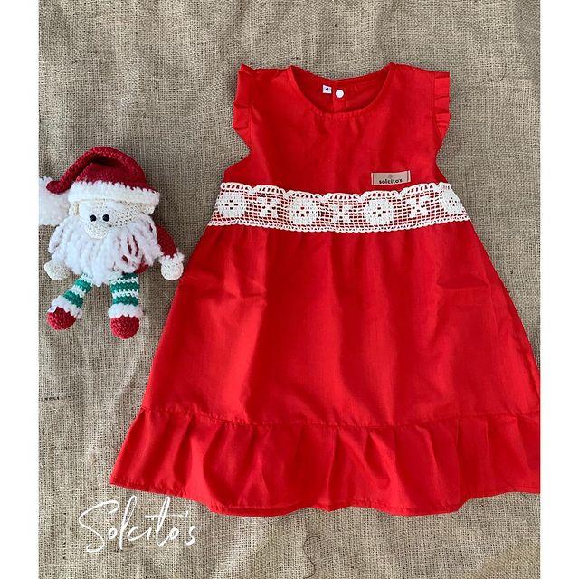 vestido rojo beba solcito navidad 2020
