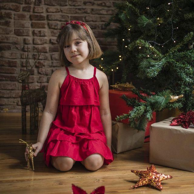 vestido rojo nina reino mora navidad ano nuevo 2020