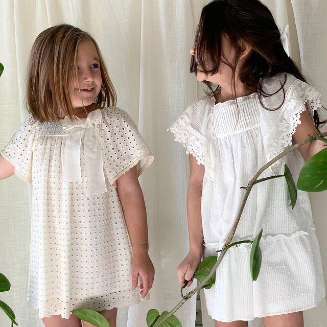 vestidos blancos nenas Gro web navidad ano nuevo 2020