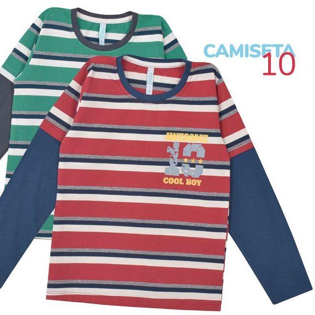 camiseta mangas largas nino a rayas Ostyn otono invierno 2021
