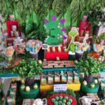 Cumpleaños infantil temático de dinosaurios