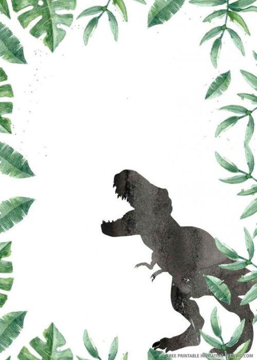 fondo para tarjeta virtual invitacion cumpleanos dinosaurios