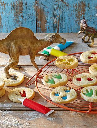 galletas con huellas de dinosaurios