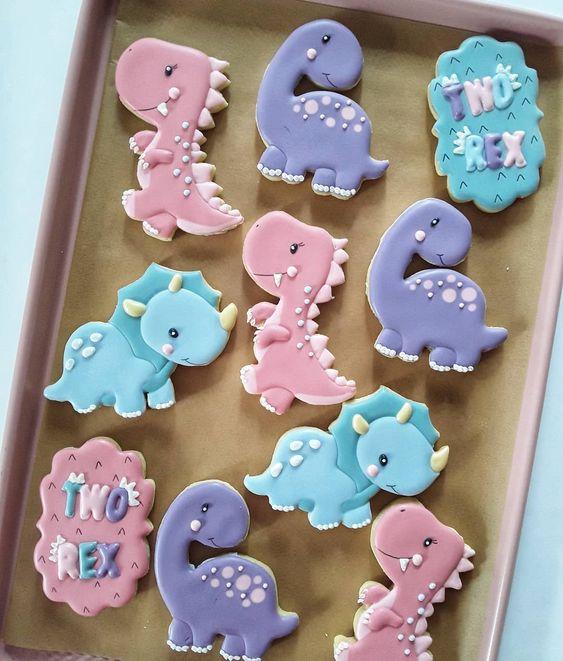 galletas de dinosaurios decoradas