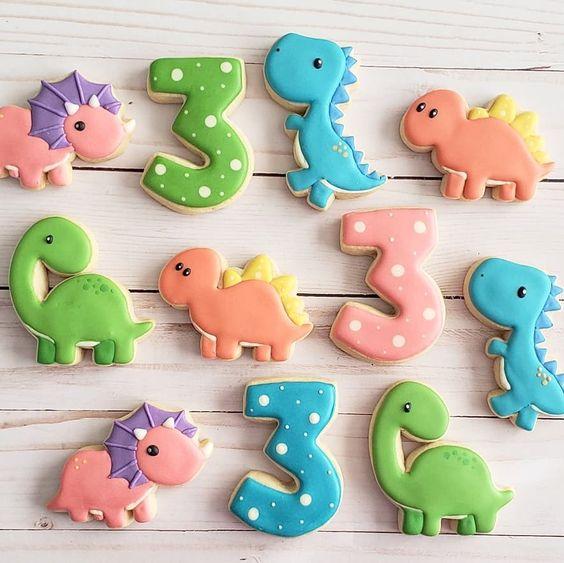 galletas faciles y lindas de diosaurios