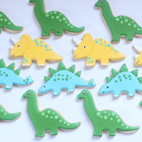 galletas tematica de dinosaurios cumpleanos