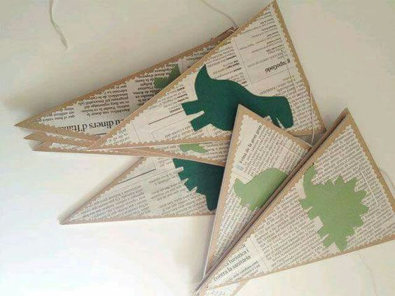 guirladas de dinosaurios banderines economicos