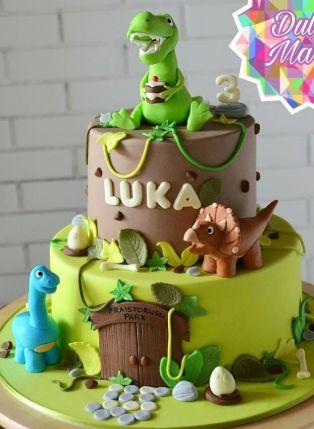 lindas tortas de dinosaurios