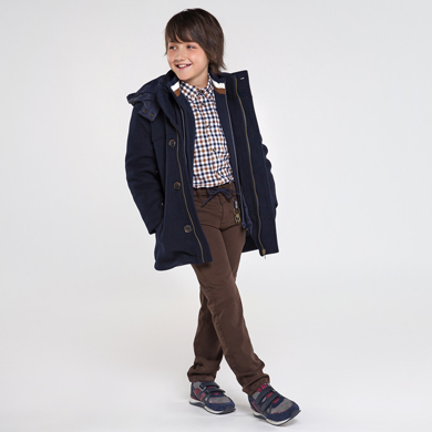 long sleeved checked flannel shirt for boy id 10 07131 090 390 2