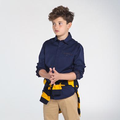 long sleeved twill shirt for boy id 10 07132 009 390 2