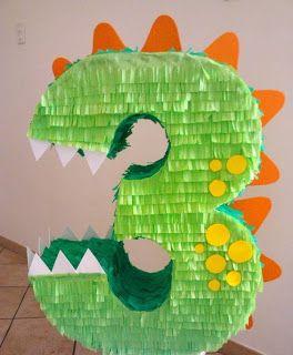 pinata numero dinosaurio cumple