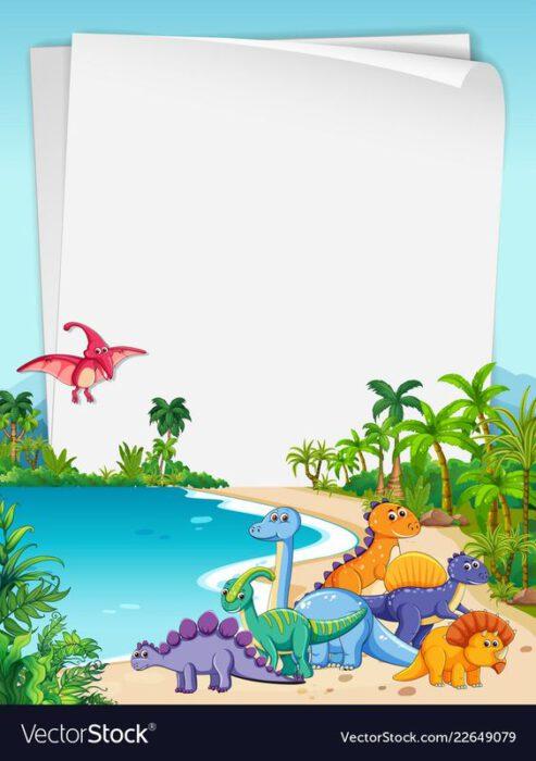 tarjeta virtual dinosaurio cumpleanos infantil