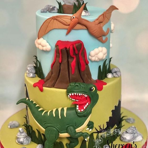torta de dinosaurios para ninos grandes