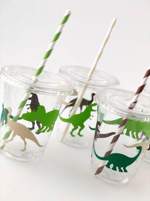 vaso malteada dinosuarios