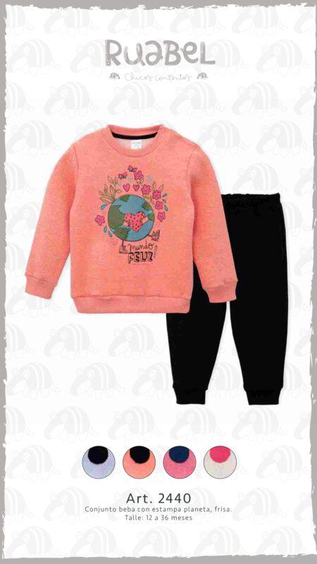 Ruabel invierno 2021 conjunto algodon frisa bebes
