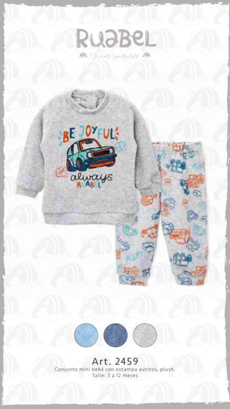 Ruabel invierno 2021 pantalon y buzo frisa bebe