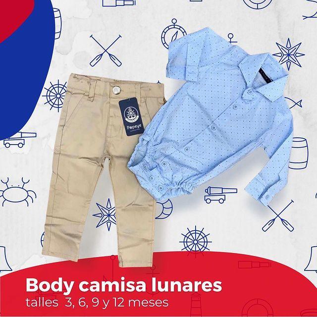 body camisa bebe Popeye kids invierno 2021