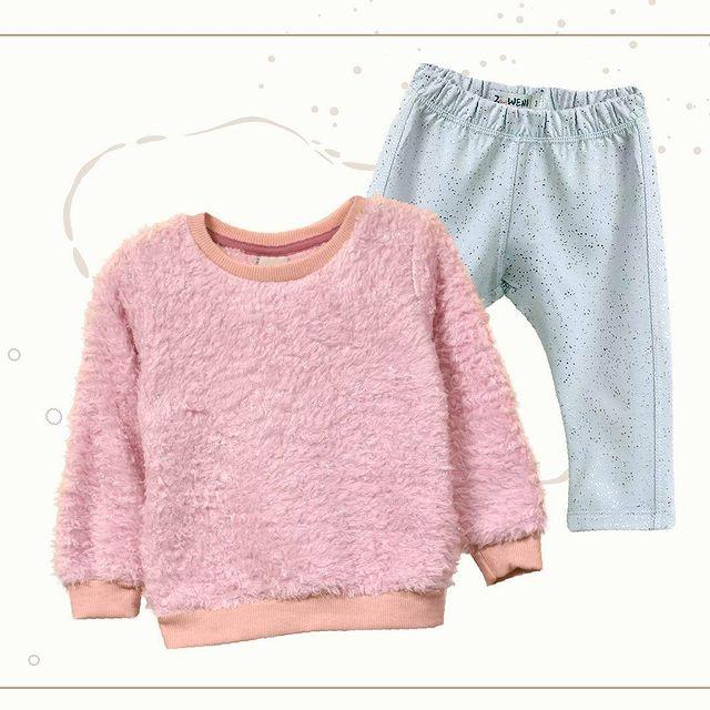 buzo peluche rosa beba Zuweni invierno 2021