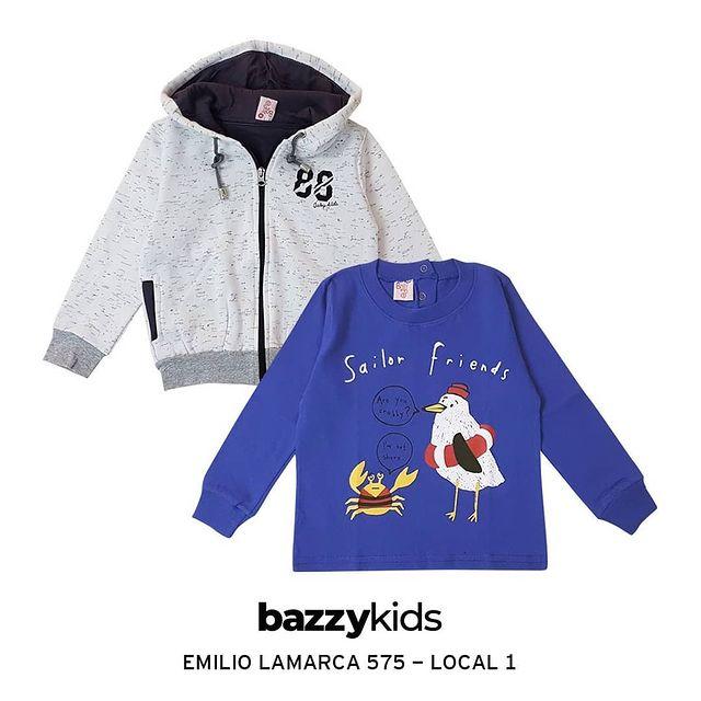campera con capucha frisa nino Bazzy kids invierno 2021