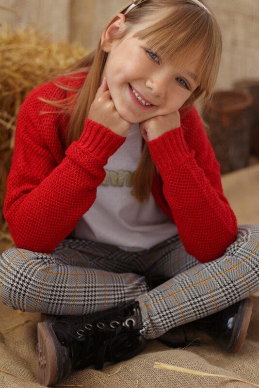 cardigan lana tejido nina nucleo kids invierno 2021