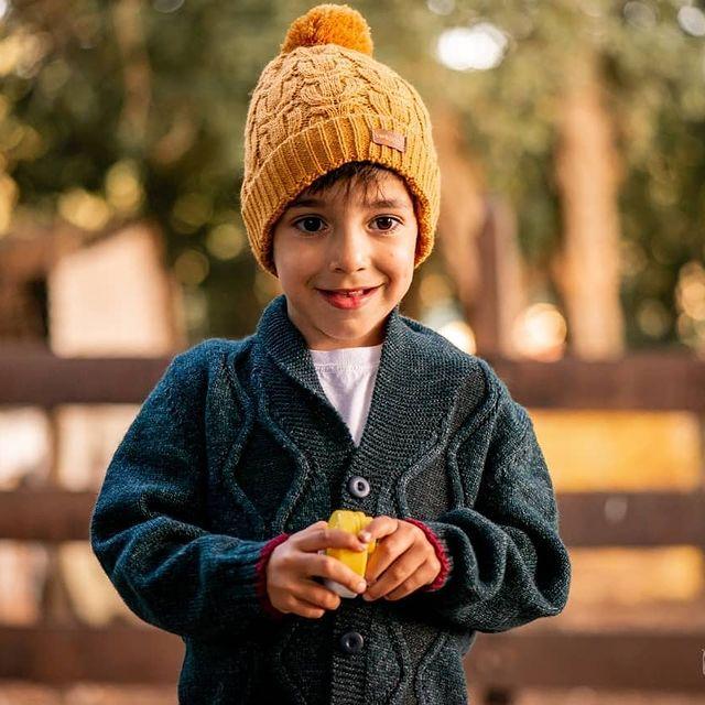 cardigan tejido en lana para ninos swepper invierno 2021