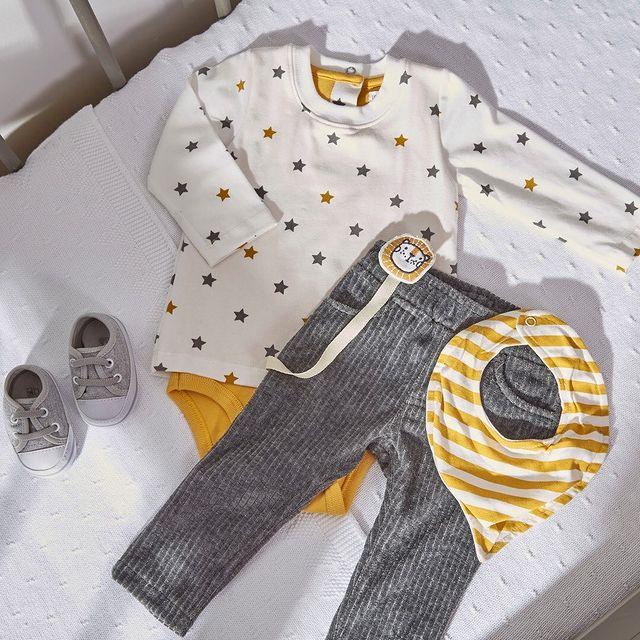 pantalon plus y body estampado bebe bebe cheeky invierno 2021