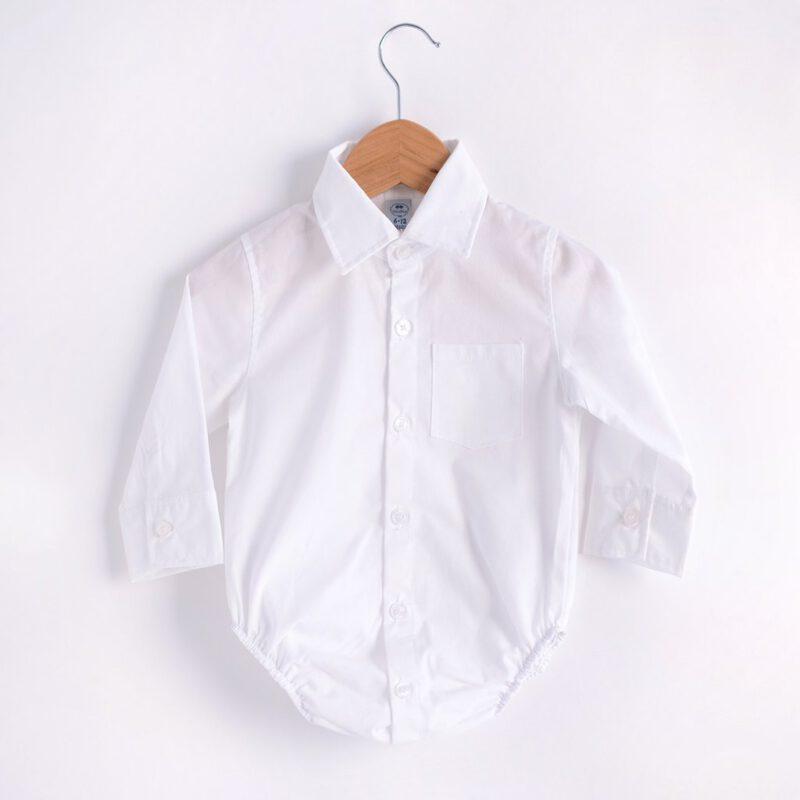 body camisa blanca bebe MiniPio invierno 2021