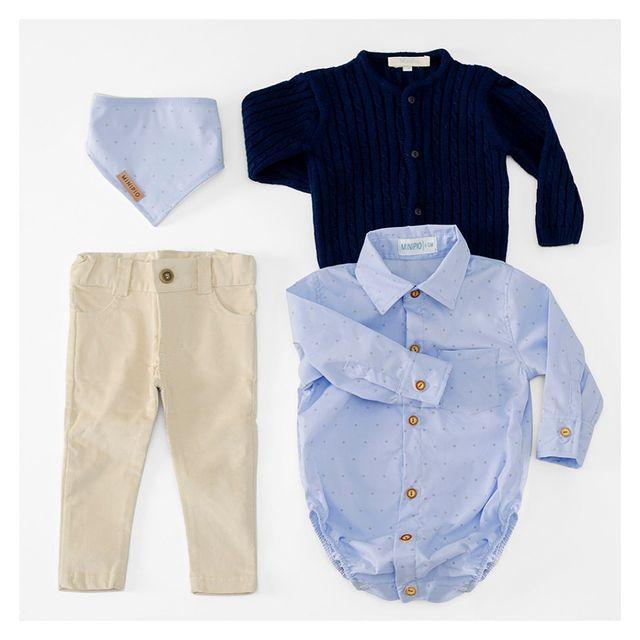 outfit para bebe con body camisa MiniPio invierno 2021