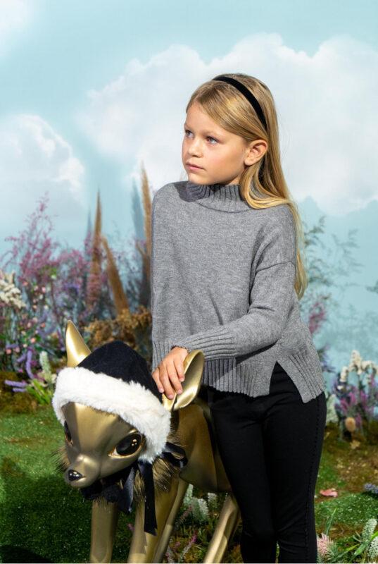 sweater media polera nina little akiabara invierno 2021