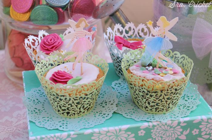 fiesta hadas cup cakes