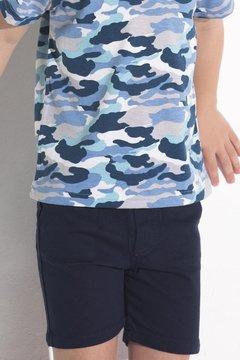 bermuda azul y remera camufalda Mission Junior verano 2022
