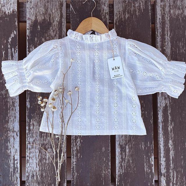 blusa blanca nena waw verano 2022