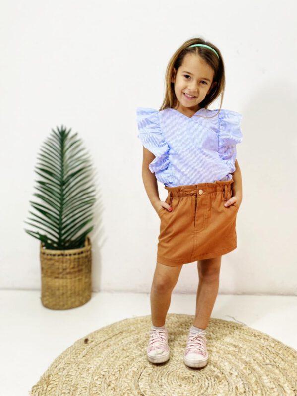 blusa con volado nena mini Tramps verano 2022