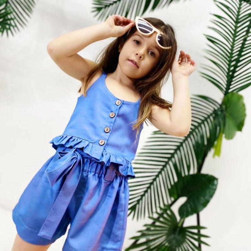 conjunto short y top nena mini Tramps verano 2022